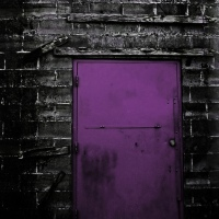 Purple Industrial Door, Mandeville Street, New Orleans, September 6, 2012