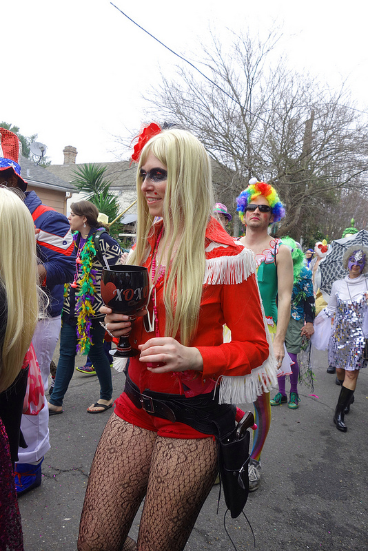 Lady, St. Anne Parade, Mardi Gras Day, New Orleans, February 12, 2013