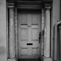 Ancient Ruins of Greece in the French Quarter, Door, New Orleans, January 5, 2013